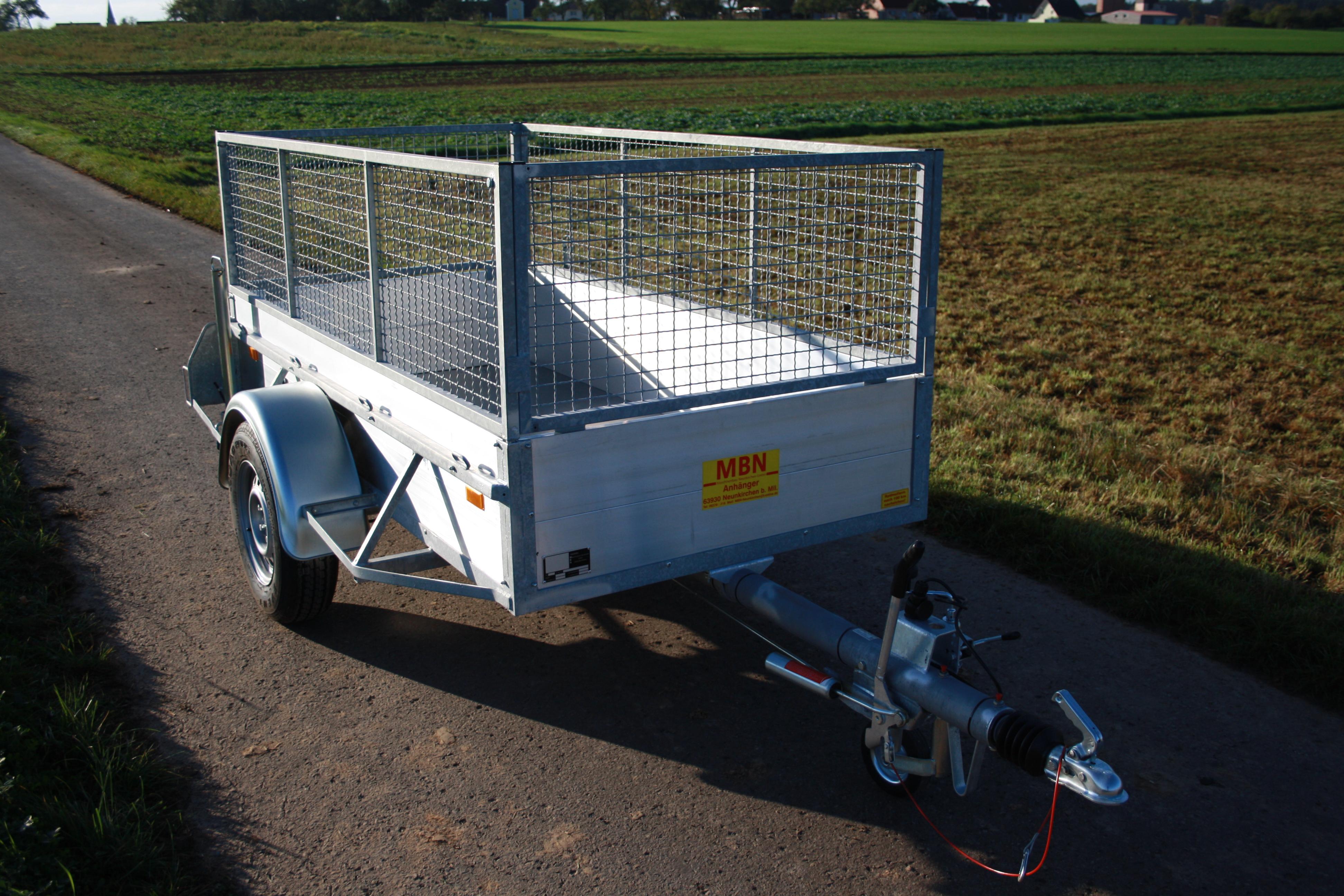 Stahlgitteraufbau MBN Tieflader 1300 kg